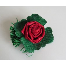 2632 Rose with leaves and sprig