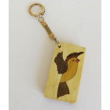 3111 Keychain with Intarsia Birds