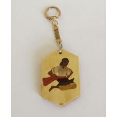 319 Nyckelring Intarsia Folkdans