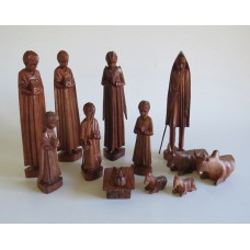 351 Hand carved Cristmas crib H=12cm