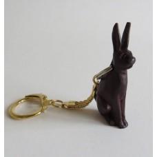 3113 Nyckelring snidad kanin