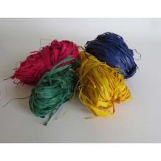 292 Raffiafibrer färgade