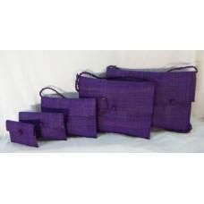 233 Envelope handbag Woven raffia Set of 5pc
