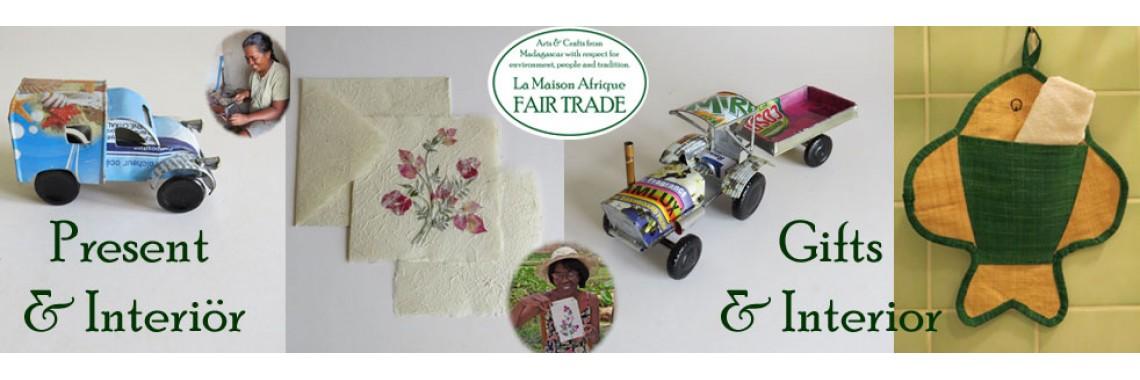 Present och interiör - La Maison Afrique FAIRTRADE
