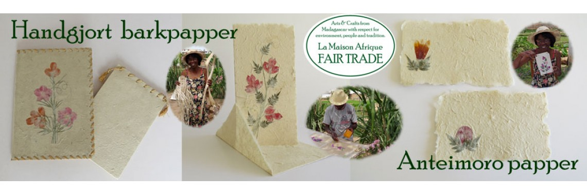 Handgjort papper - La Maison Afrique FAIR TRADE