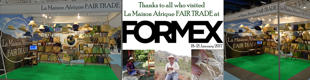 La Maison Afrique Fairtrade exhibitor at Formex 2017 thanks for visiting