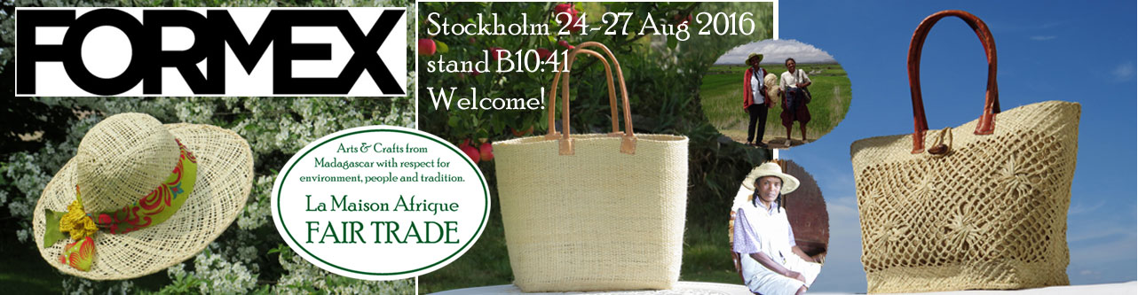 formex exhibitor La Maison Afrique FAIR TRADE stockholm aug 2016